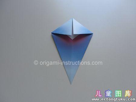 折纸鹦鹉图解 步骤7