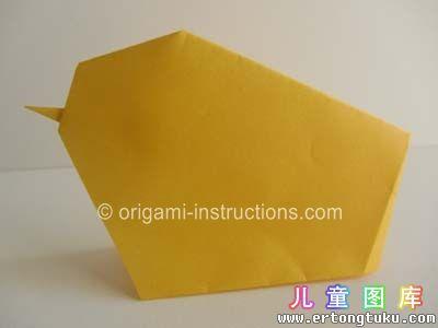 折纸小鸡图解
