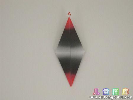 折纸猫头鹰图解 步骤1