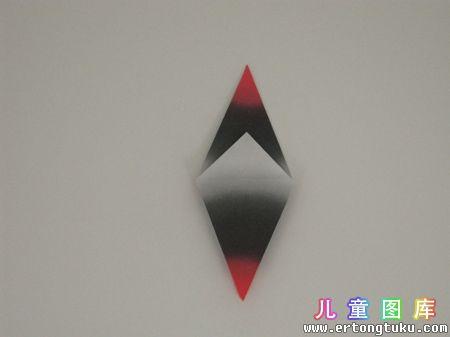 折纸猫头鹰图解 步骤2