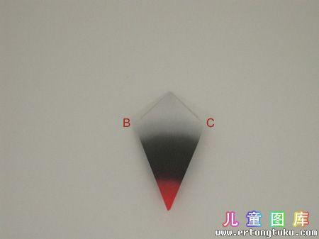 折纸猫头鹰图解 步骤3