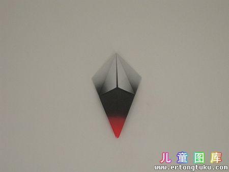 折纸猫头鹰图解 步骤4
