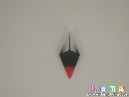 折纸猫头鹰图解 步骤5