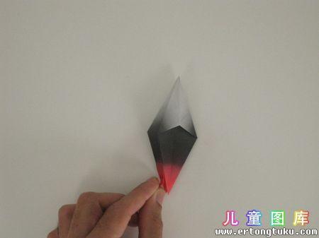 折纸猫头鹰图解 步骤6