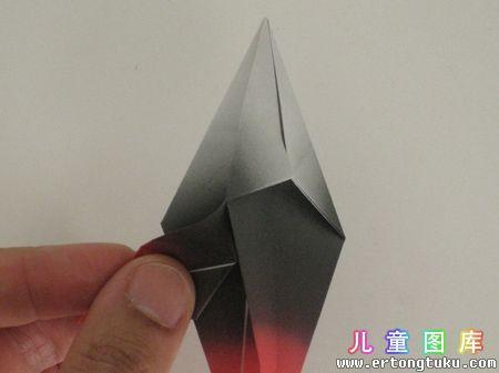 折纸猫头鹰图解 步骤7