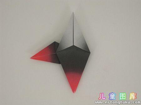 折纸猫头鹰图解 步骤8
