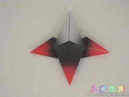 折纸猫头鹰图解 步骤9