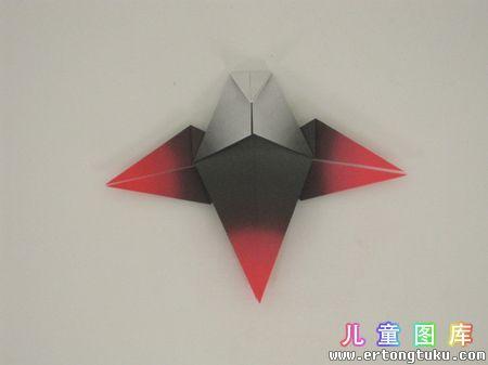 折纸猫头鹰图解 步骤10
