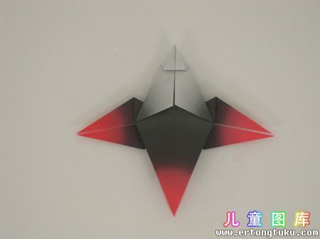 折纸猫头鹰图解 步骤11
