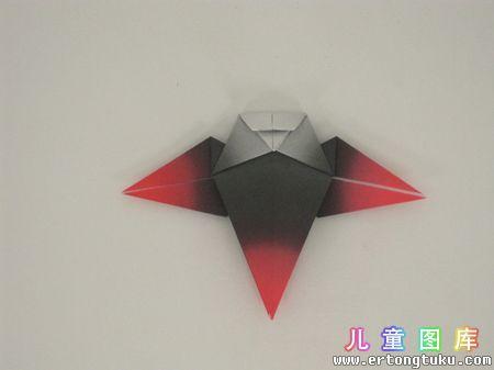 折纸猫头鹰图解 步骤12