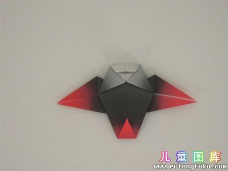折纸猫头鹰图解 步骤13