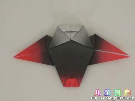 折纸猫头鹰图解 步骤14