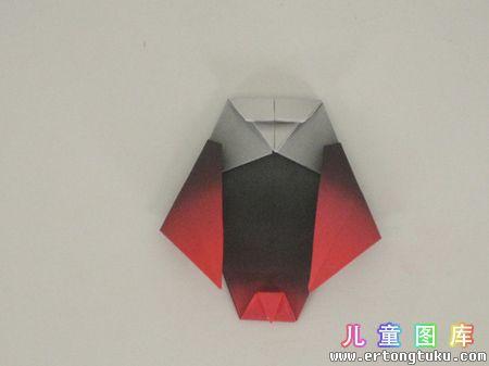 折纸猫头鹰图解 步骤15
