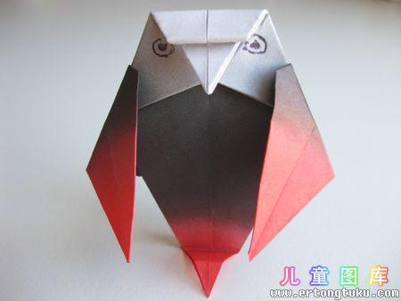折纸猫头鹰图解 步骤17
