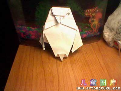 折纸猫头鹰图解 步骤18