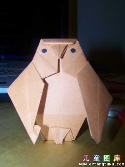 折纸猫头鹰图解 步骤19