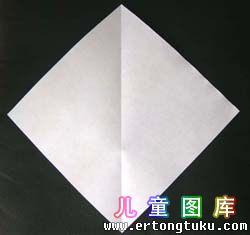 折纸天鹅图解 步骤1