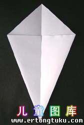 折纸天鹅图解 步骤4