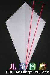 折纸天鹅图解 步骤5