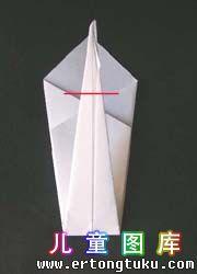 折纸天鹅图解 步骤8
