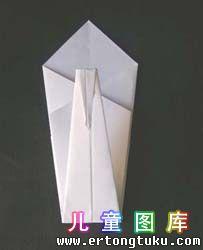 折纸天鹅图解 步骤9