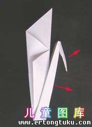 折纸天鹅图解 步骤10