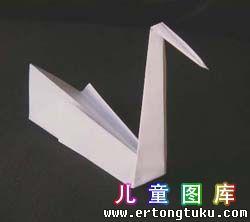 折纸天鹅图解