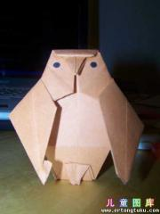折纸猫头鹰图解