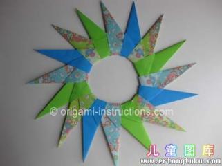 折纸星花环图解