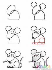 如何画卡通老鼠