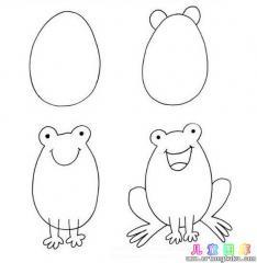 如何画卡通青蛙