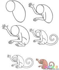 如何画猴子