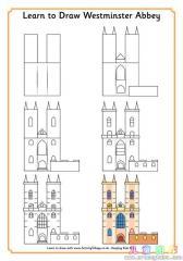 如何画一个城堡