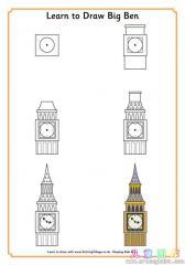 如何画大本钟