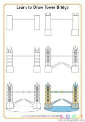 如何画伦敦塔桥