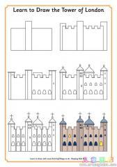 如何画伦敦塔