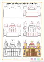 如何画圣保罗大教堂