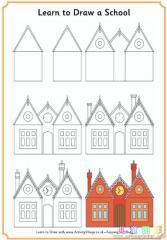 如何画一个教堂