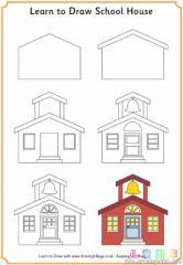 如何画欧式学校的房子