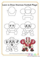 如何画美国足球运动员
