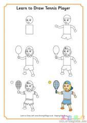 如何画网球运动员