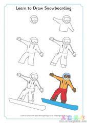 如何画单板滑雪运动员