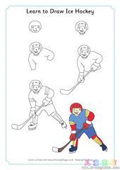 如何画冰球运动员