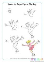如何画花样滑冰运动员