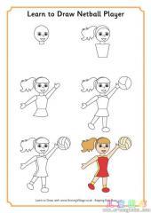 如何画排球运动员