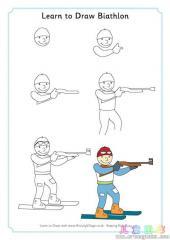 如何画越野滑雪运动员