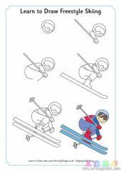 如何画自由式滑雪运动员