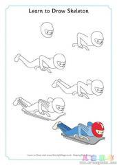 如何画钢架雪车运动员