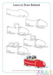 如何画大雪橇