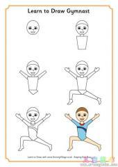 如何画体操运动员